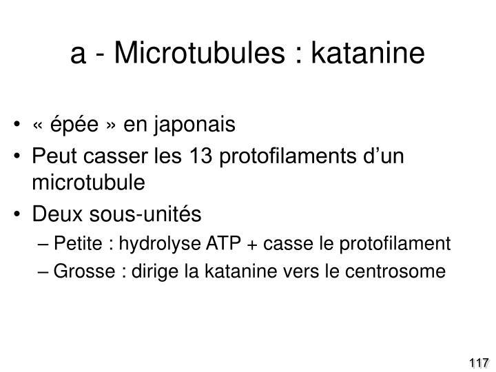 a - Microtubules : katanine