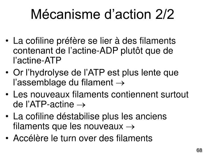 Mécanisme d'action 2/2
