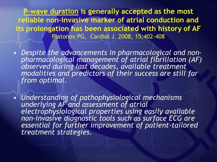P-wave duration