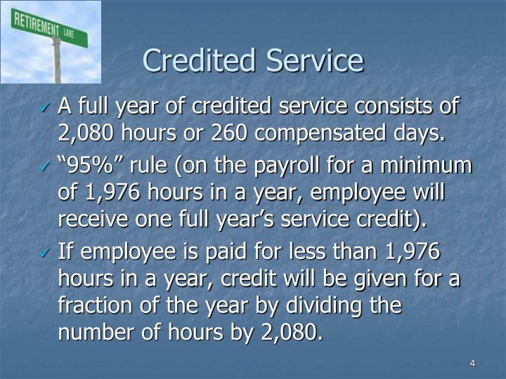 Credited Service
