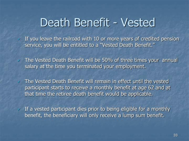 Death Benefit - Vested