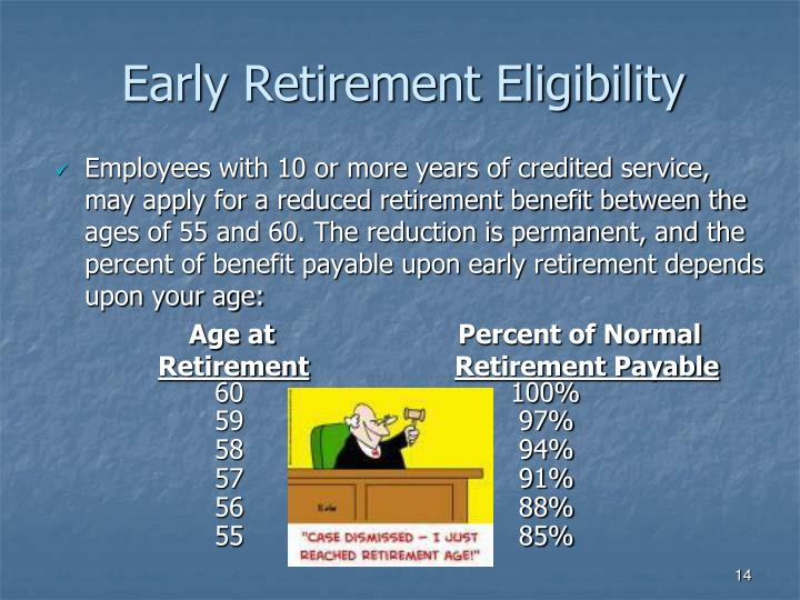 Early Retirement Eligibility
