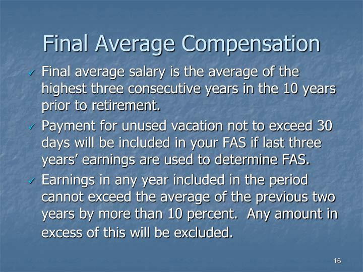 Final Average Compensation