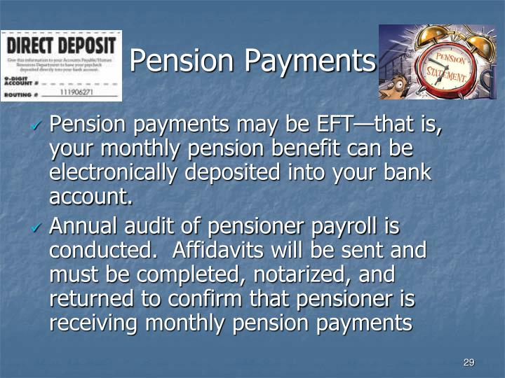 Pension Payments