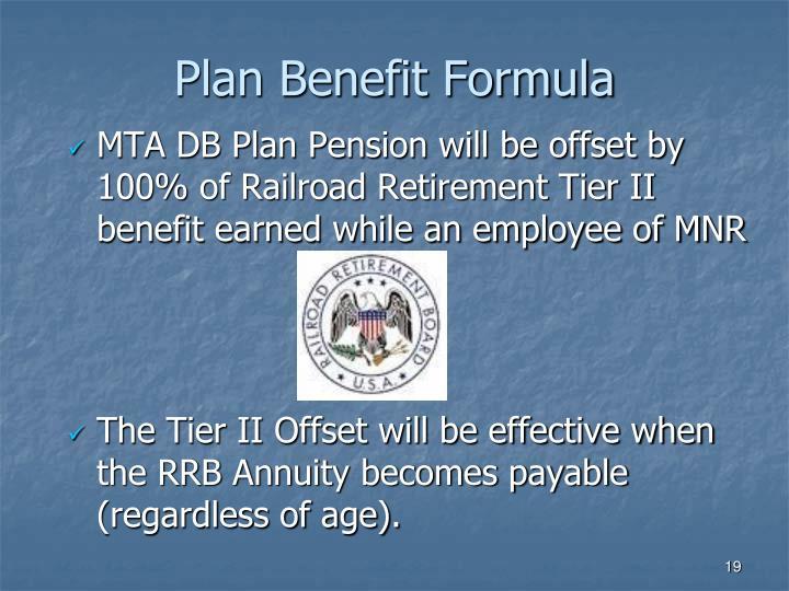 Plan Benefit Formula
