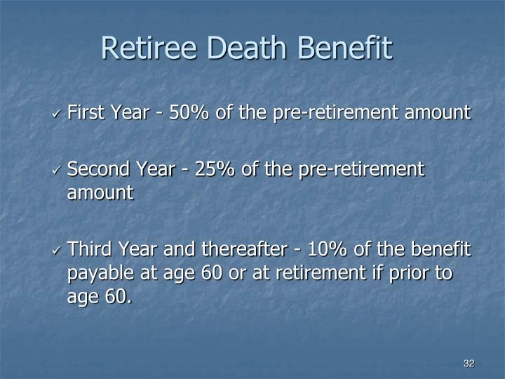 Retiree Death Benefit
