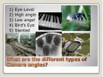 what are the different types of camera angles