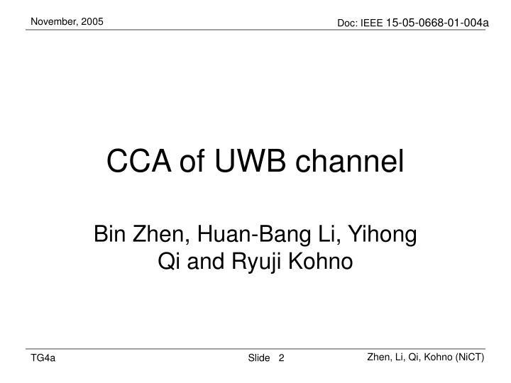 CCA of UWB channel