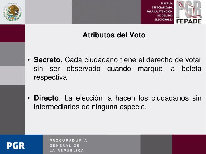 Atributos del Voto