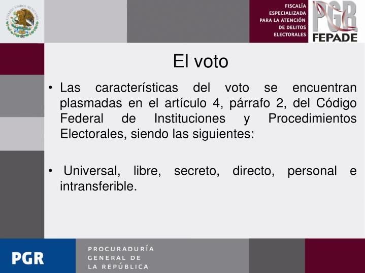 El voto