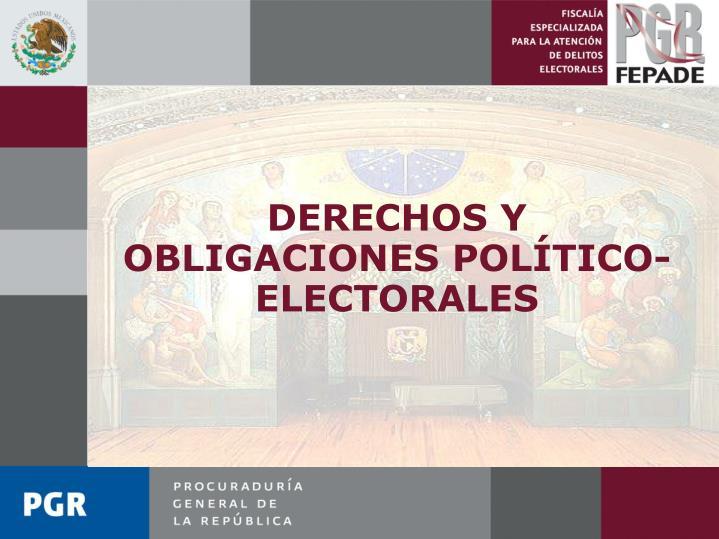 DERECHOS Y OBLIGACIONES POLÍTICO- ELECTORALES