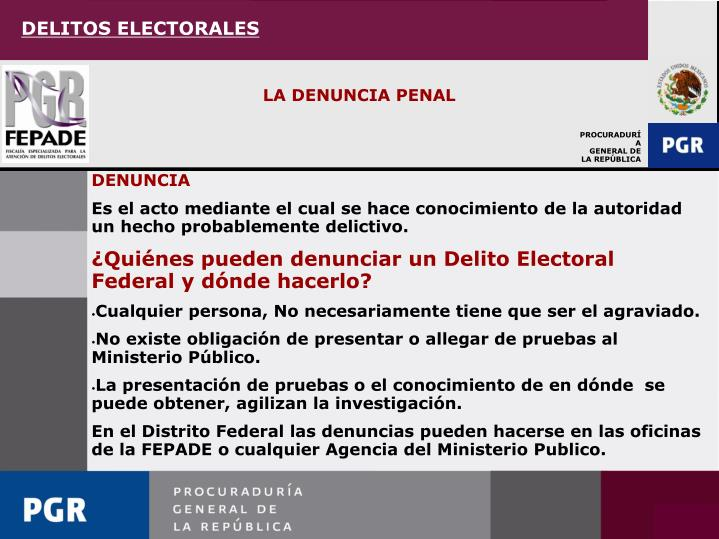 DELITOS ELECTORALES