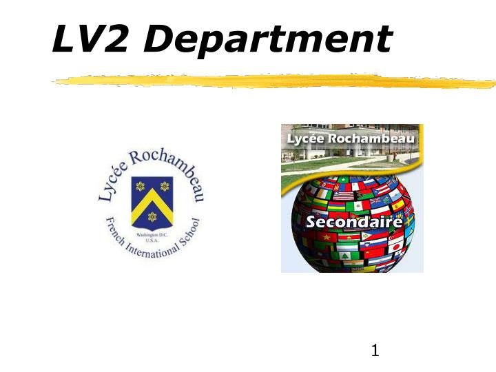 LV2 Department