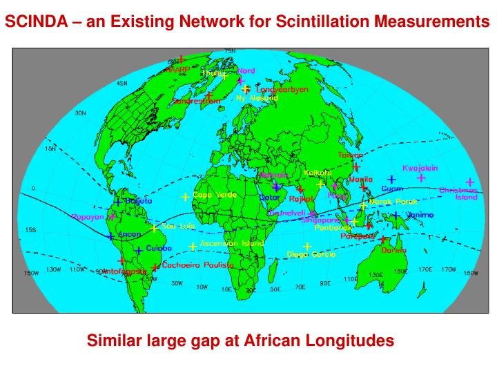 SCINDA – an Existing Network for Scintillation Measurements