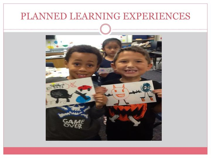 PLANNED LEARNING EXPERIENCES