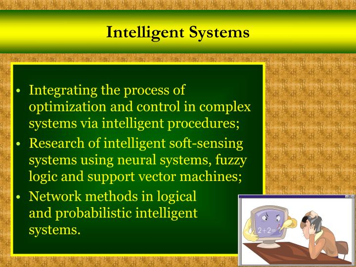 Intelligent Systems