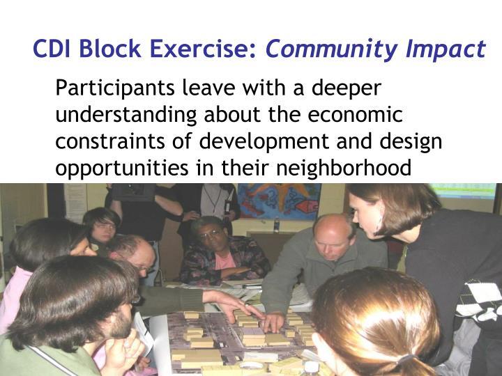 CDI Block Exercise: