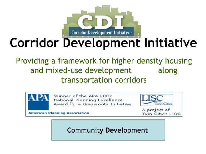 Corridor Development Initiative