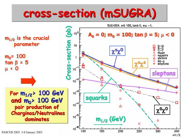 cross-section (mSUGRA)
