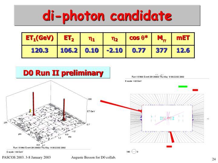 di-photon candidate