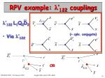 rpv example 122 couplings
