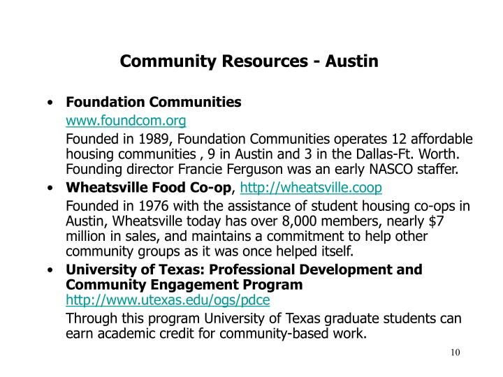 Community Resources - Austin