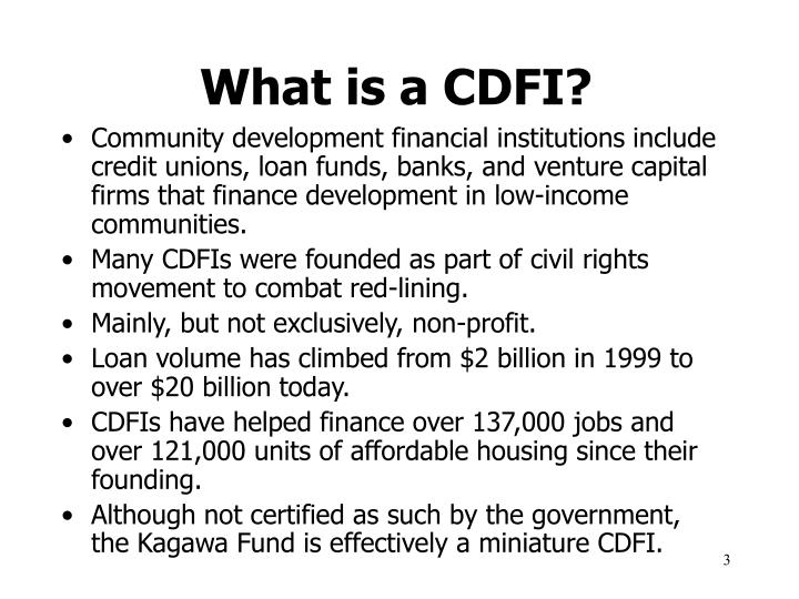 What is a cdfi