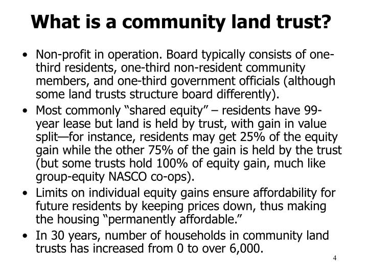 What is a community land trust?
