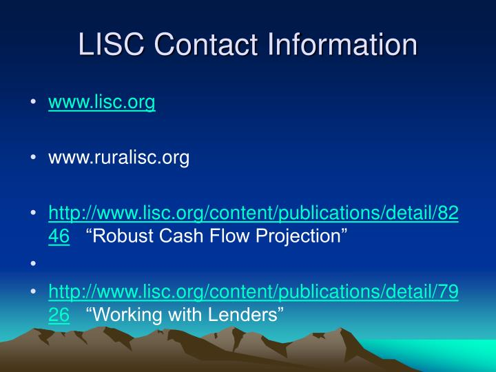LISC Contact Information