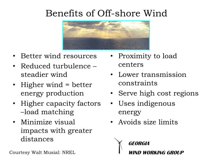 Benefits of Off-shore Wind