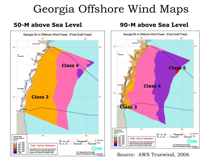 Georgia Offshore Wind Maps