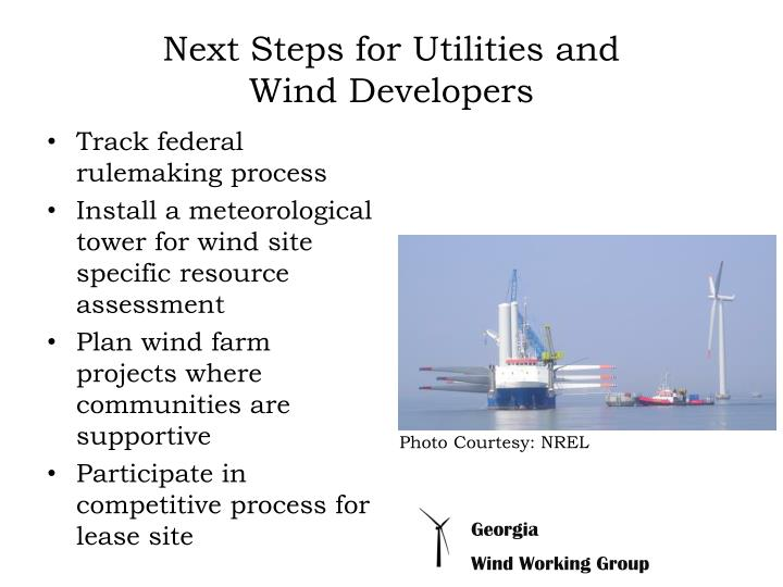Next Steps for Utilities and
