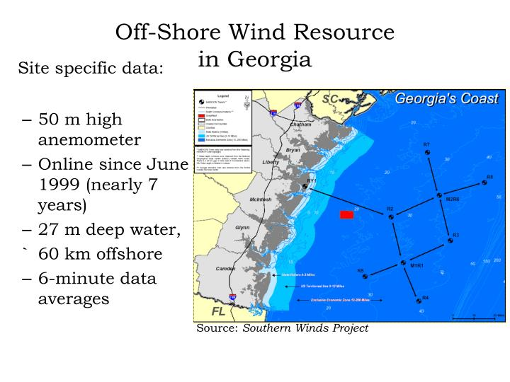 Off-Shore Wind Resource