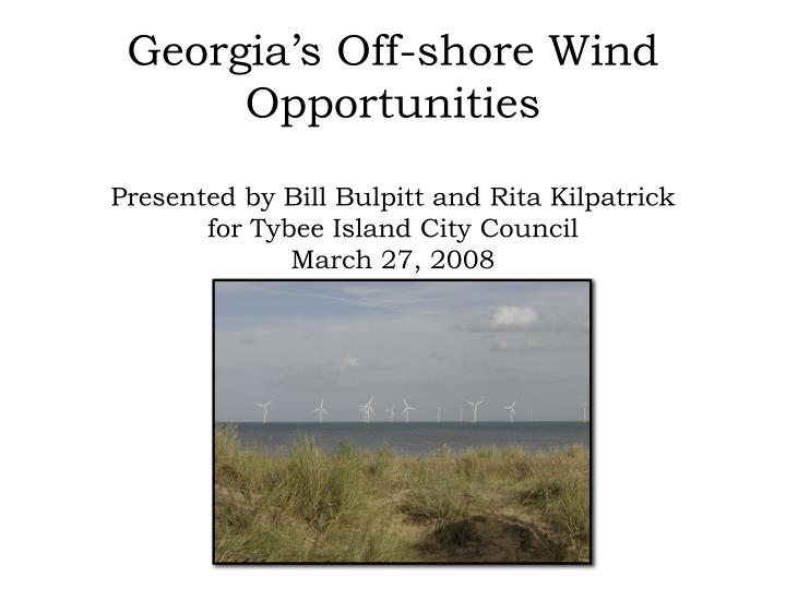 Georgia's Off-shore Wind Opportunities