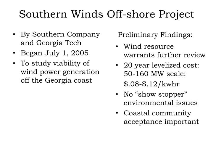 Southern Winds Off-shore Project