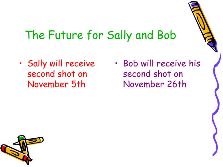 Sally will receive second shot on November 5th