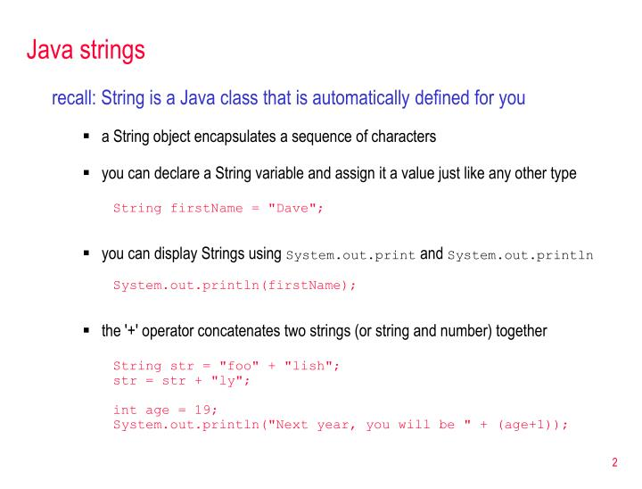 Java strings