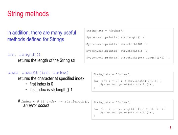 String methods