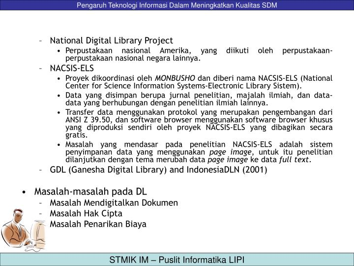 National Digital Library Project