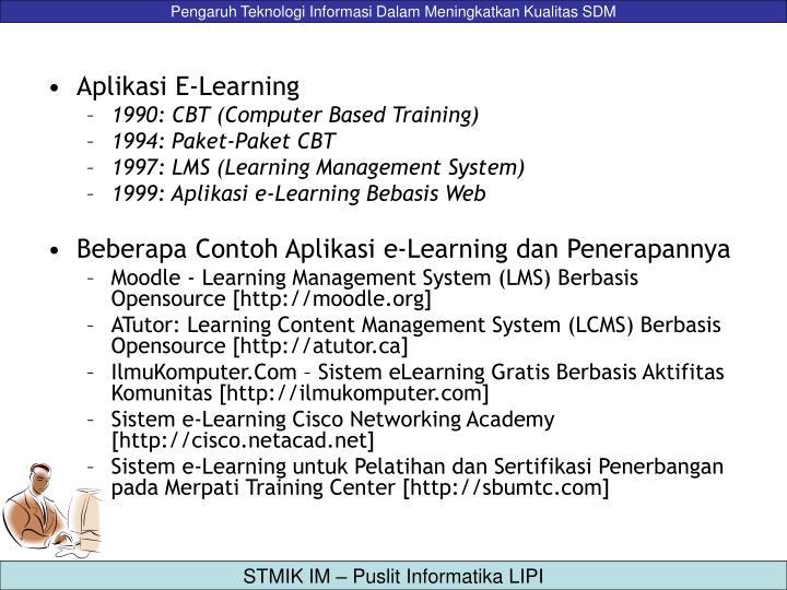 Aplikasi E-Learning