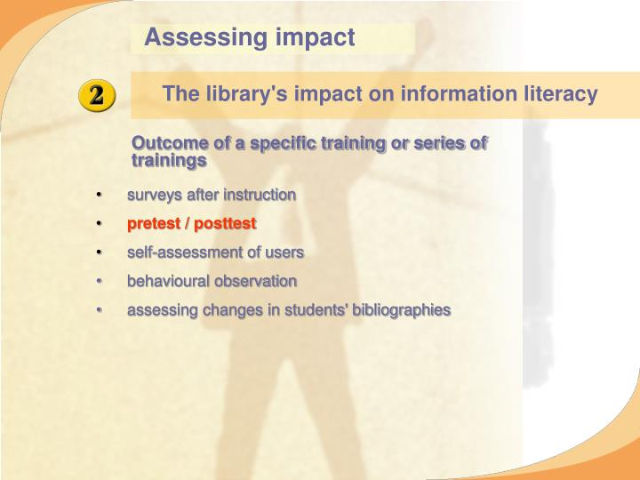 Assessing impact