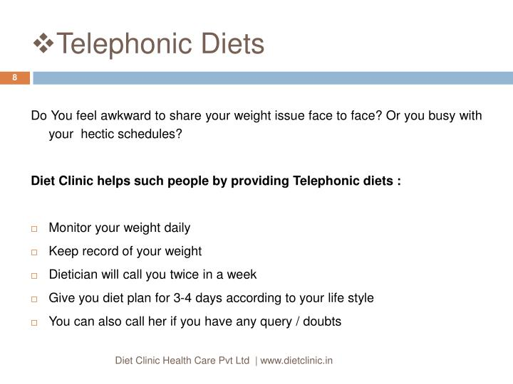 Telephonic Diets