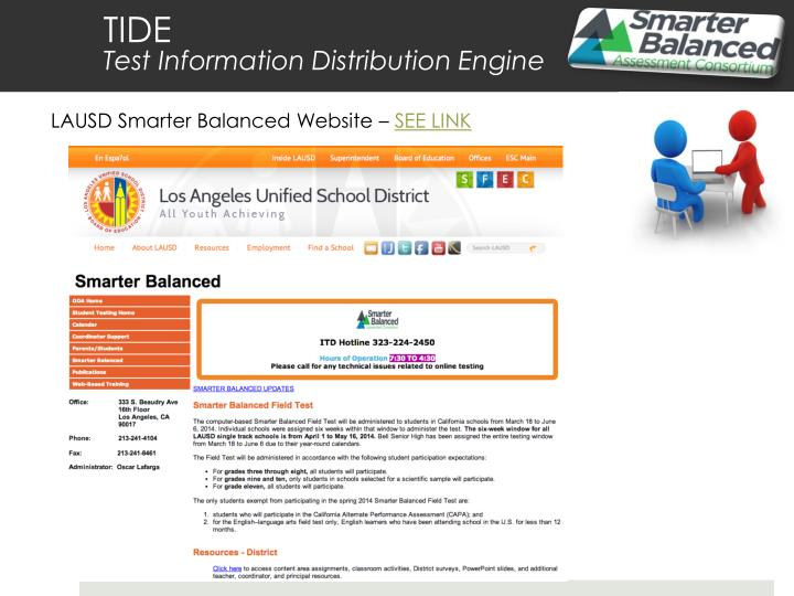 LAUSD Smarter Balanced Website –