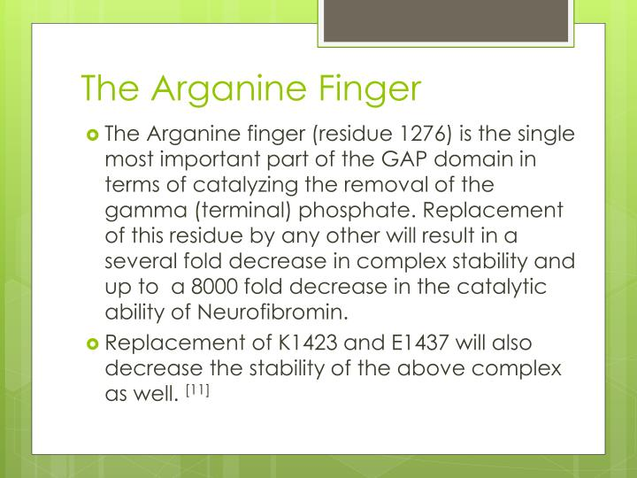 The Arganine Finger