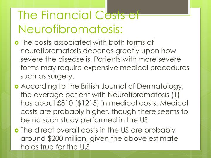 The Financial Costs of Neurofibromatosis: