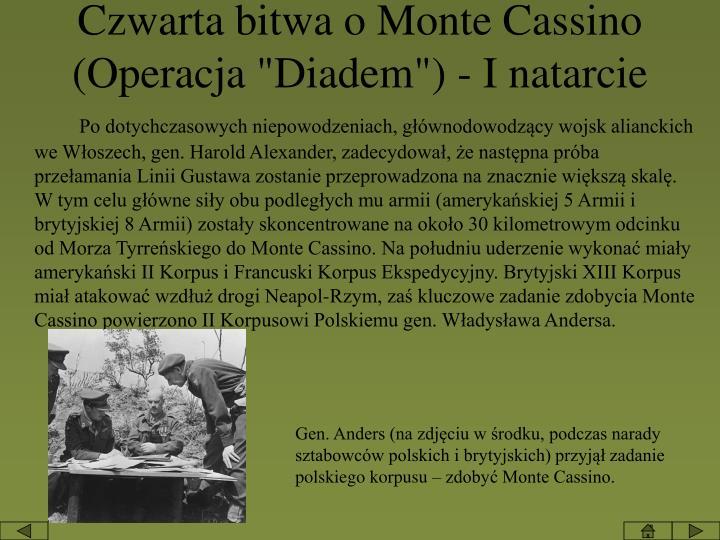 """Czwarta bitwa o Monte Cassino (Operacja """"Diadem"""") -"""