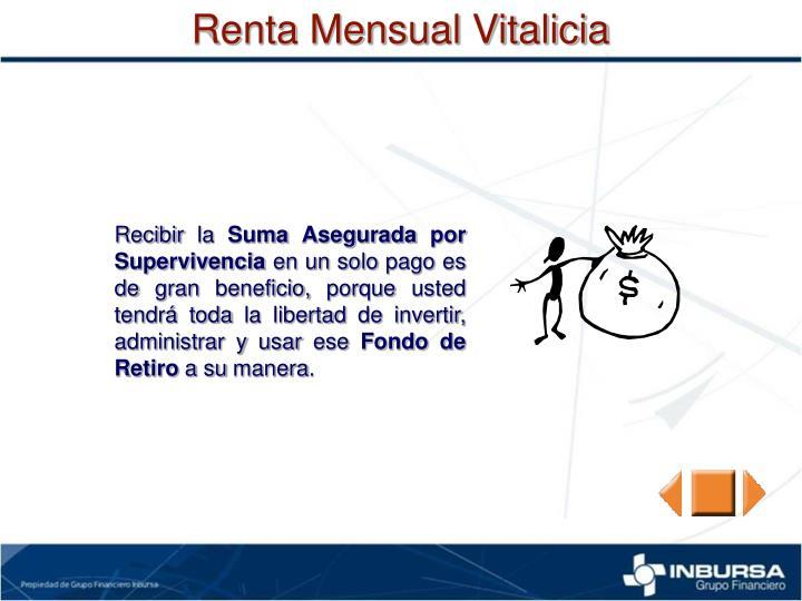 Renta Mensual Vitalicia