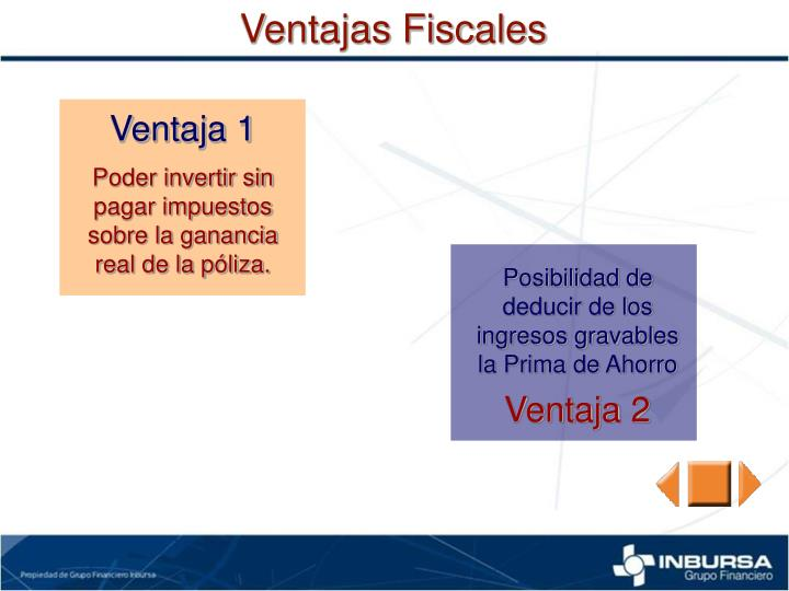 Ventajas Fiscales