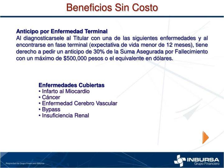 Beneficios Sin Costo