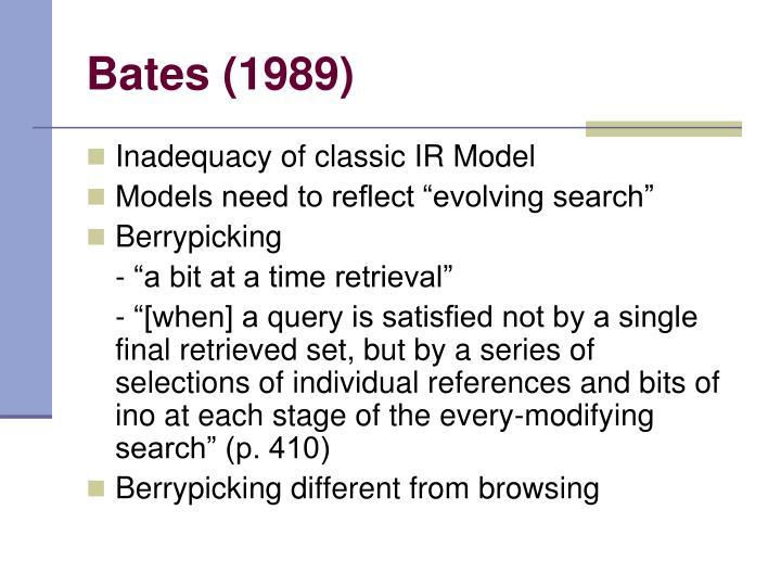 Bates (1989)